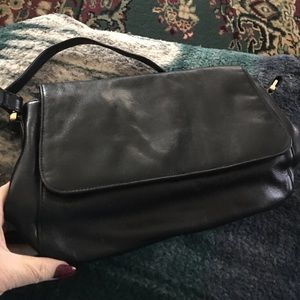 Etienne Aigner black leather purse